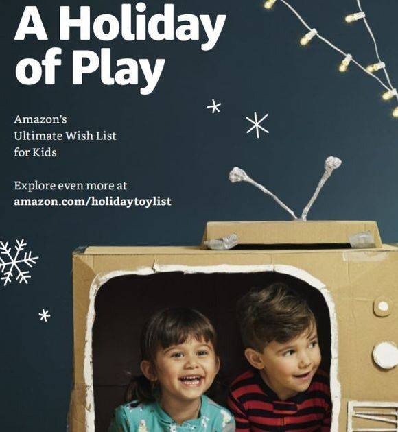 Amazon's 2018 Holiday Toy Catalog uses direct mail to drive traffic to their website